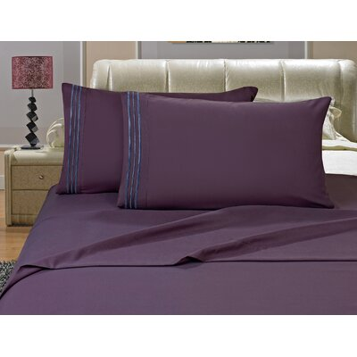 Riam Split King Sheet Set Color: Purple