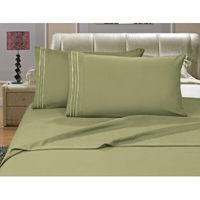 Riam Split King Sheet Set Color: Green