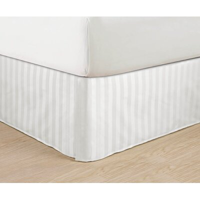 1500 Thread Count Bed Skirt Color: White, Size: Queen