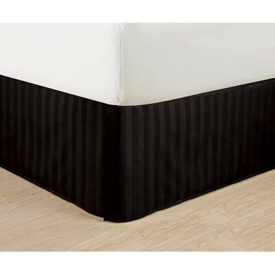 1500 Thread Count Bed Skirt Color: Black, Size: Queen