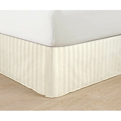 1500 Thread Count Bed Skirt Color: Cream, Size: Full