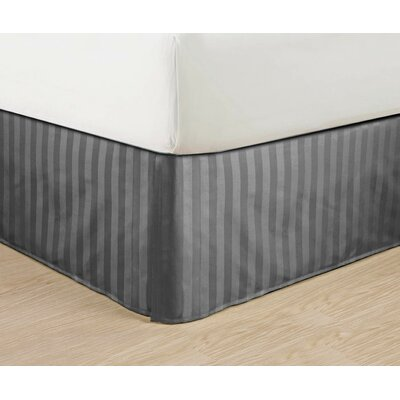 1500 Thread Count Bed Skirt Color: Gray, Size: Queen