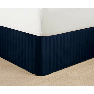 1500 Thread Count Bed Skirt Color: Navy, Size: King