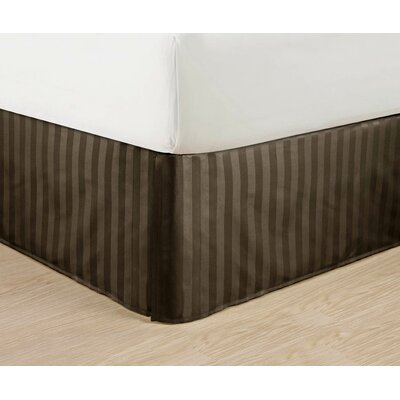 1500 Thread Count Bed Skirt Color: Brown, Size: Queen