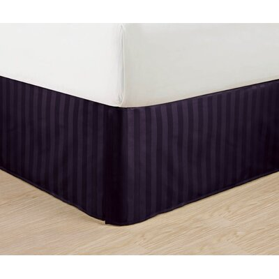 1500 Thread Count Bed Skirt Color: Purple, Size: Queen
