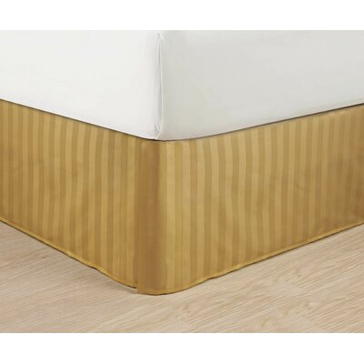 1500 Thread Count Bed Skirt Color: Gold, Size: Queen