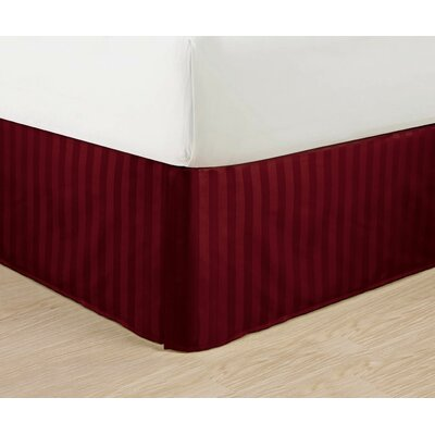 1500 Thread Count Bed Skirt Color: Burgundy, Size: King