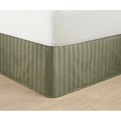 1500 Thread Count Bed Skirt Color: Green, Size: King