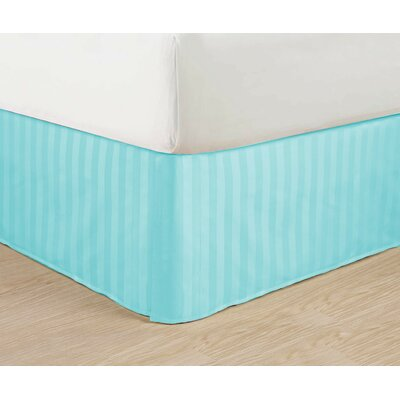 1500 Thread Count Bed Skirt Color: Aqua, Size: Queen