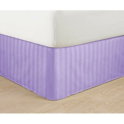 1500 Thread Count Bed Skirt Color: Lilac, Size: Queen