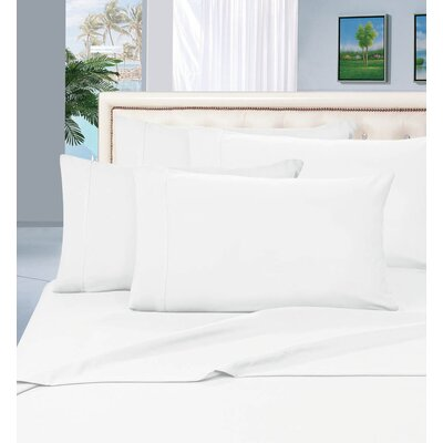 Luxury 1500 Thread Count Sheet Set Color: White, Size: California King