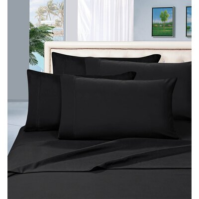 Luxury 1500 Thread Count Sheet Set Color: Black, Size: Queen