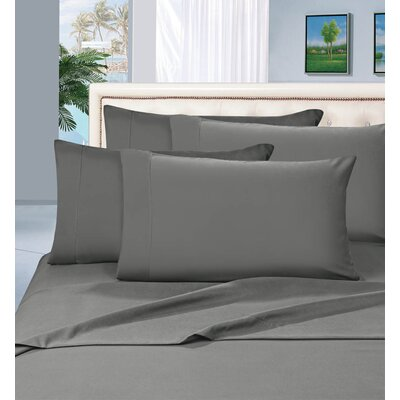 Luxury 1500 Thread Count Sheet Set Color: Gray, Size: California King