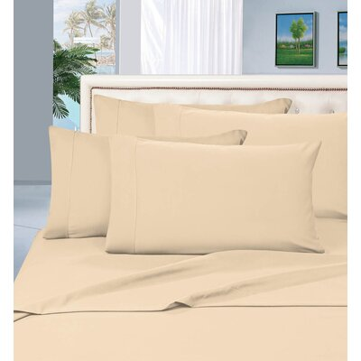 Luxury Sheet Set Size: King, Color: Cream