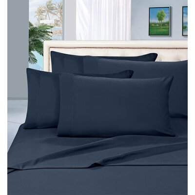 Luxury Sheet Set Size: King, Color: Navy