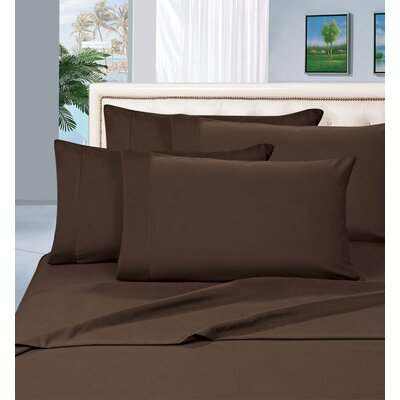 Luxury Sheet Set Size: King, Color: Brown