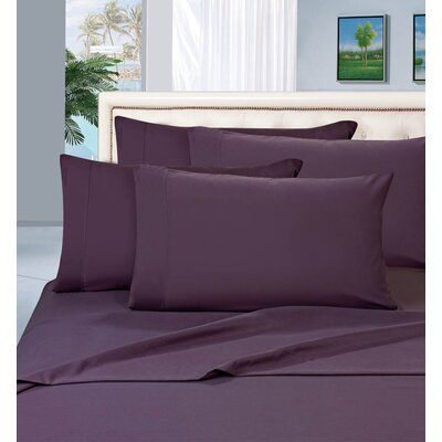 Luxury Sheet Set Size: Full, Color: Purple
