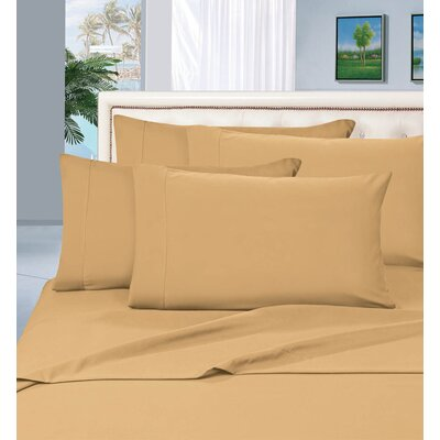 Luxury Sheet Set Size: Queen, Color: Gold