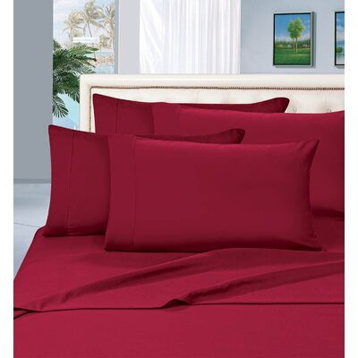 Luxury 1500 Thread Count Sheet Set Color: Burgundy, Size: California King
