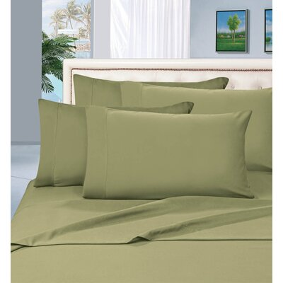 Luxury 1500 Thread Count Sheet Set Color: Green, Size: King