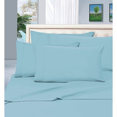 Luxury Sheet Set Size: Queen, Color: Aqua