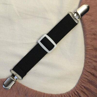 Adjustable Bed Sheet Fasteners Suspenders (Set of 4)