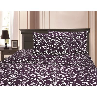 3 Piece Full/Double Duvet Cover Set Color: Purple, Size: King/California King