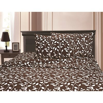 3 Piece Full/Double Duvet Cover Set Color: Brown, Size: King/California King