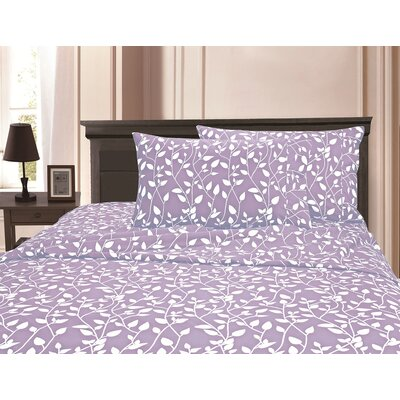 3 Piece Full/Double Duvet Cover Set Color: Lilac, Size: King/California King