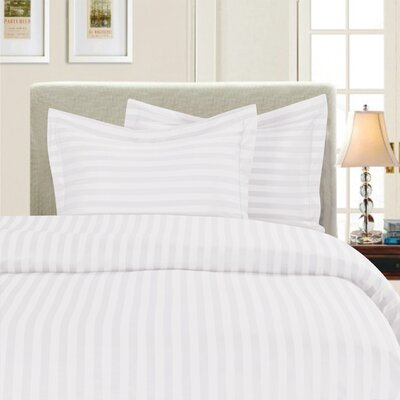 3 Piece Duvet Cover Set Color: White, Size: King/California King