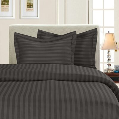 3 Piece Duvet Cover Set Color: Gray, Size: King/California King
