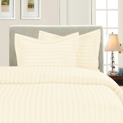 3 Piece Duvet Cover Set Color: Beige, Size: King/California King