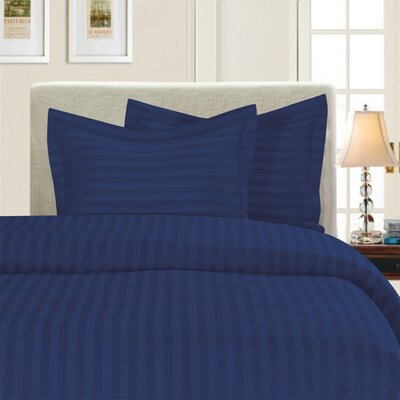 3 Piece Duvet Cover Set Color: Navy, Size: King/California King
