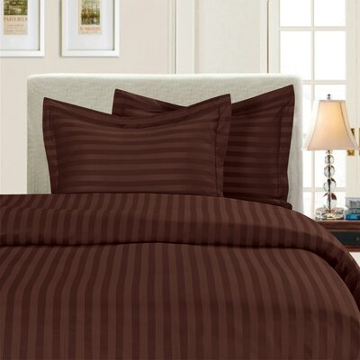 3 Piece Duvet Cover Set Color: Brown, Size: Full/Queen