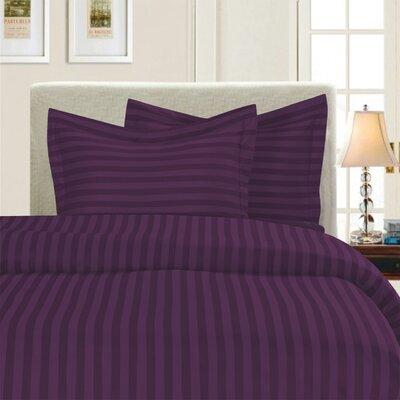3 Piece Duvet Cover Set Color: Purple, Size: Full/Queen