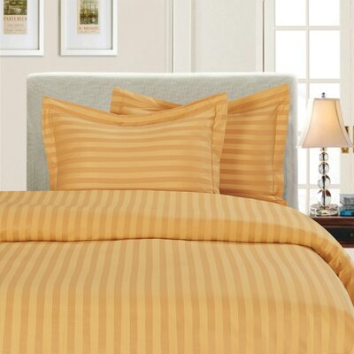 3 Piece Duvet Cover Set Color: Gold, Size: Full/Queen