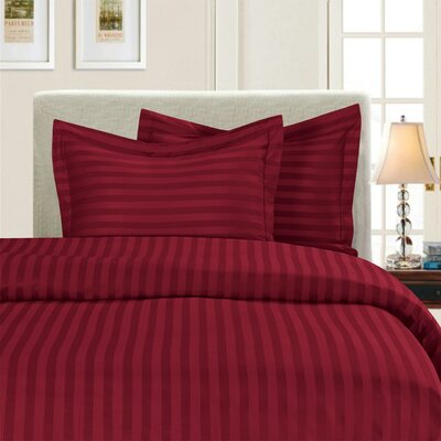 3 Piece Duvet Cover Set Color: Burgundy, Size: King/California King