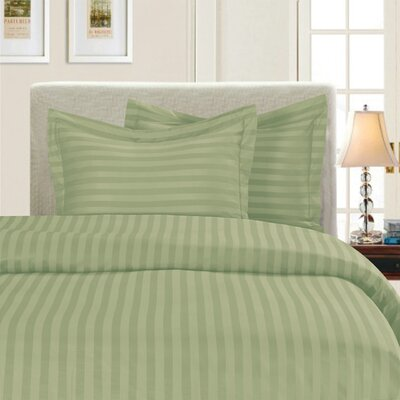 3 Piece Duvet Cover Set Color: Green, Size: King/California King