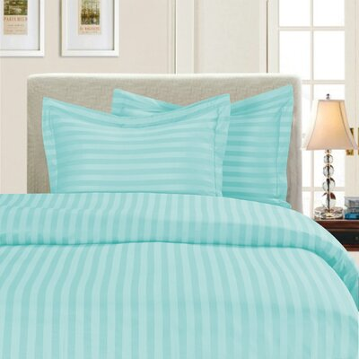 3 Piece Duvet Cover Set Color: Aqua, Size: Full/Queen