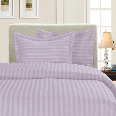 3 Piece Duvet Cover Set Color: Lilac, Size: Full/Queen