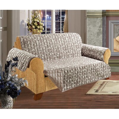 Leaf Furniture Protector Box Cushion Loveseat Slipcover Upholstery: Natural