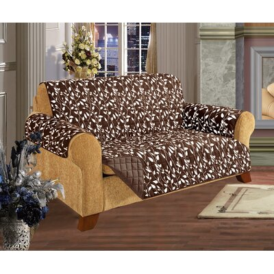 Leaf Furniture Protector Microfiber Loveseat Slipcover Upholstery: Chocolate