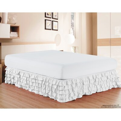 Klingler Premium Quality 1500 Thread Count Bed Skirt Color: White