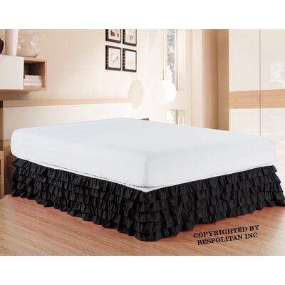 Klingler Premium Quality 1500 Thread Count Bed Skirt Color: Black