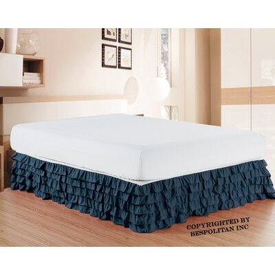 Klingler Premium Quality 1500 Thread Count Bed Skirt Color: Navy