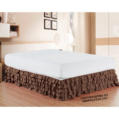 Klingler Premium Quality 1500 Thread Count Bed Skirt Color: Brown
