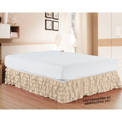 Klingler Premium Quality 1500 Thread Count Bed Skirt Color: Cream
