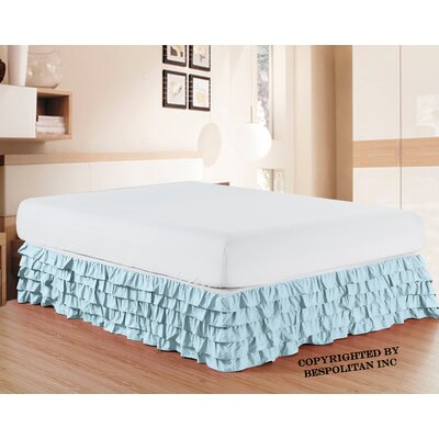 Klingler Premium Quality 1500 Thread Count Bed Skirt Color: Aqua