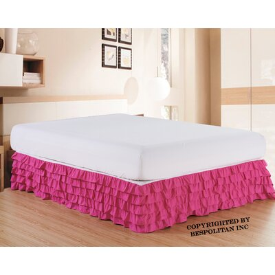 Klingler Premium Quality 1500 Thread Count Bed Skirt Color: Pink