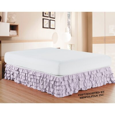 Klingler Premium Quality 1500 Thread Count Bed Skirt Color: Lilac